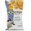 Popchips, Potato Chips, Salt & Pepper, 5 oz (142 g)