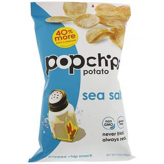 Popchips, Potato Chips, Sea Salt, 5 oz (142 g)