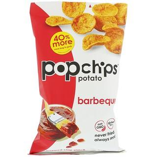 Popchips, ポテトチップス、バーベキュー、5 oz (142 g)
