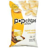 Popchips, Potato Chips, Aged White Cheddar,  5 oz (142 g)