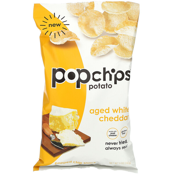 Potato Chips, Aged White Cheddar,  5 oz (142 g)