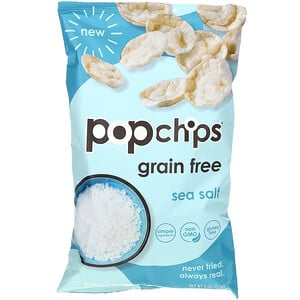Popchips, Potato Chips, Sea Salt, 4 oz (113 g)'