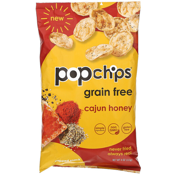 Popchips, Potato Chips, Cajun Honey, 4 oz (113 g)