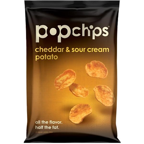 Popchips, Cheddar & Sour Cream Potato Chips, 3.5 oz (99 g) (Discontinued Item)