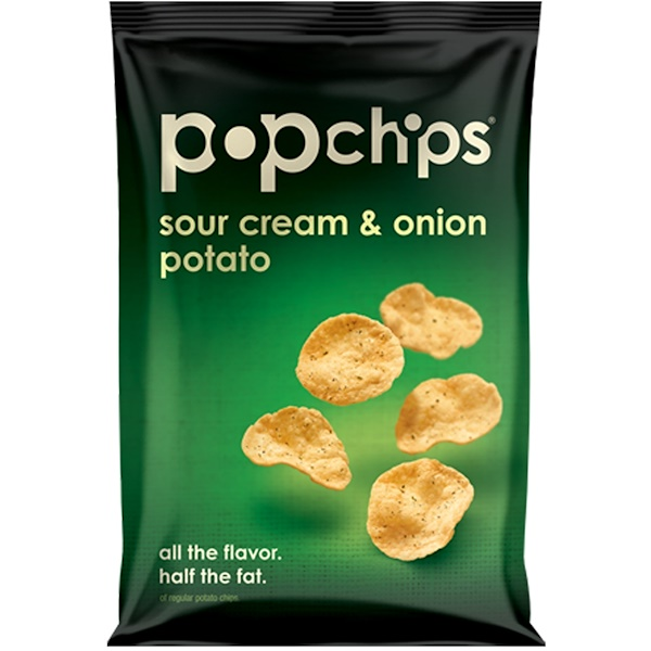 Popchips, Sour Cream & Onion Potato Chips, 3.5 oz (99 g) (Discontinued Item)
