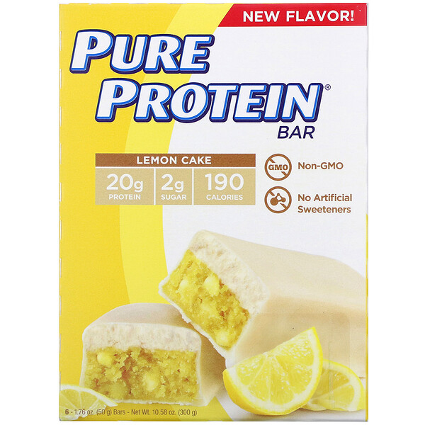 Lemon Cake Bar, 6 Bars, 1.76 oz (50 g) Each
