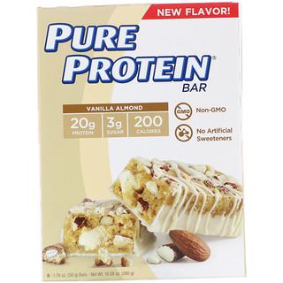 Pure Protein, Vanilla Almond Bar, 6 Bars, 1.76 oz (50 g) Each
