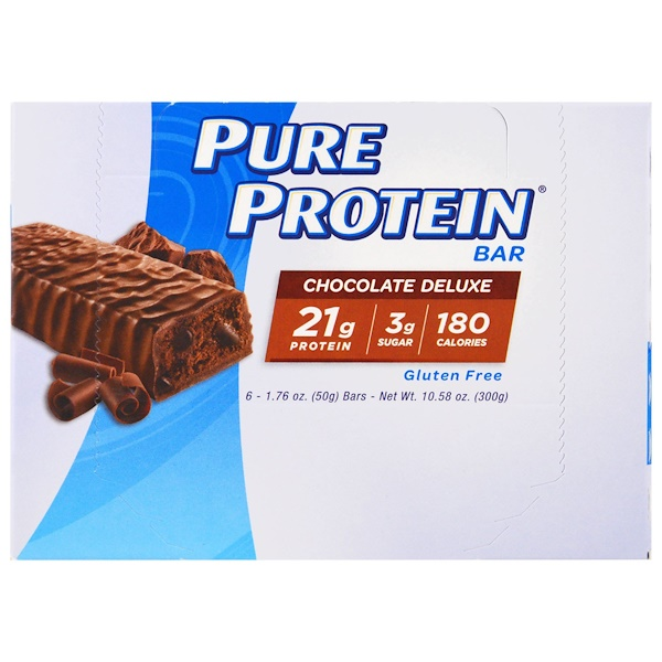Pure Protein, 高蛋白棒,豪華巧克力,6條,每條1、76盎司(50克)