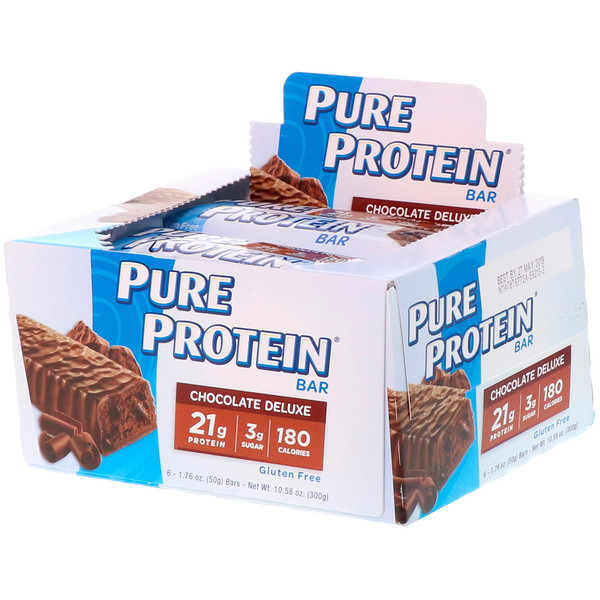 Pure Protein, Chocolate Deluxe Bar, 6 Bars, 1.76 oz (50 g) Each