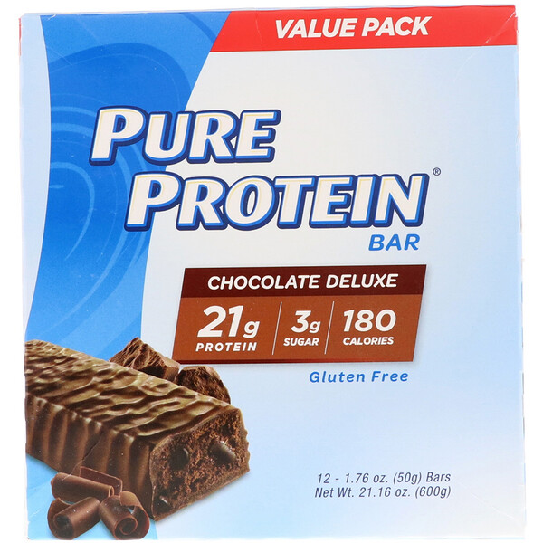 Chocolate Deluxe Bar, 12 Bars, 1.76 oz (50 g) Each