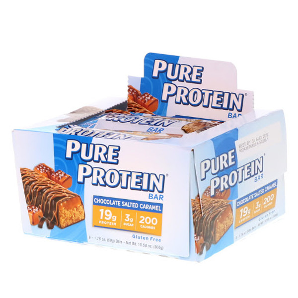 Pure Protein, Chocolate Salted Caramel Bar, 6 Bars, 1.76 oz (50 g) Each