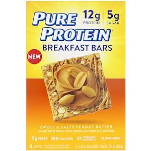 Пуре протеин, Breakfast Bars, Sweet & Salty Peanut Butter, 4 Bars, 1.76 oz (50 g) Each отзывы покупателей