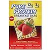 Pure Protein, Батончики для завтрака, клубника и вафля, 4 батончика, по 50 г каждый