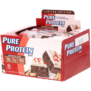 Pure Protein, Peppermint Bark Bar, 6 Bars, 1.76 oz (50 g) Each