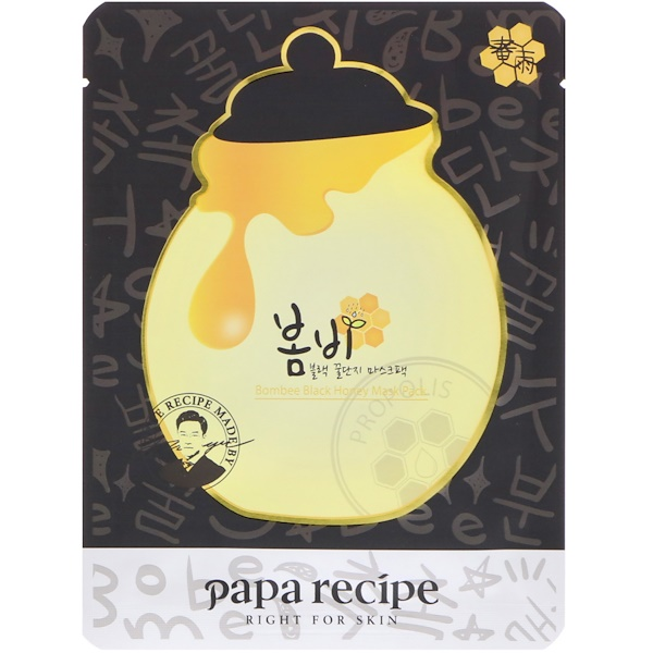 Papa Recipe, Bombee Black Honey Mask Pack, 10 Masks, 25 g Each