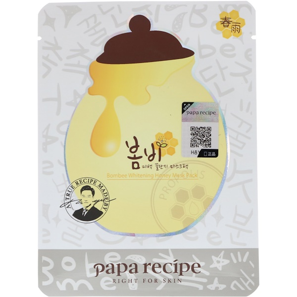 Papa Recipe, Bombee Whitening Honey Mask Pack, 10 Masks, 25 g Each