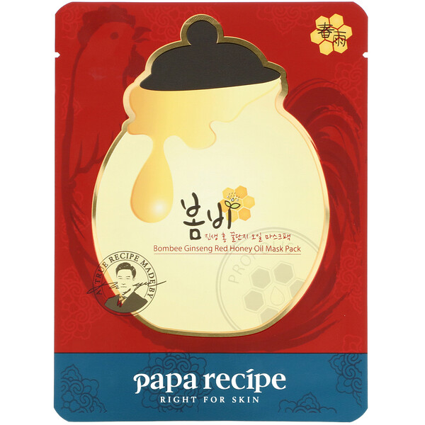 Papa Recipe, Bombee Ginseng Red Honey Oil Mask, 1 Sheet, 20 g