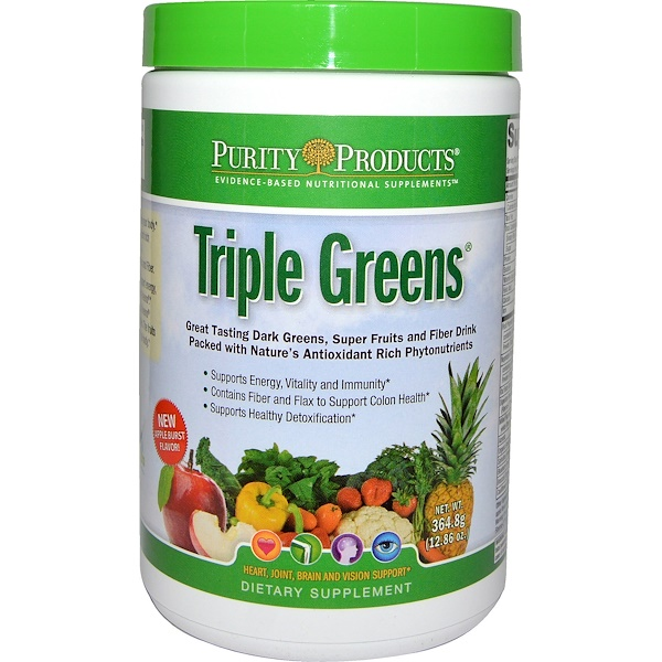 Purity Products, Triple Greens, 12.86 oz (364.8 g) (Discontinued Item)