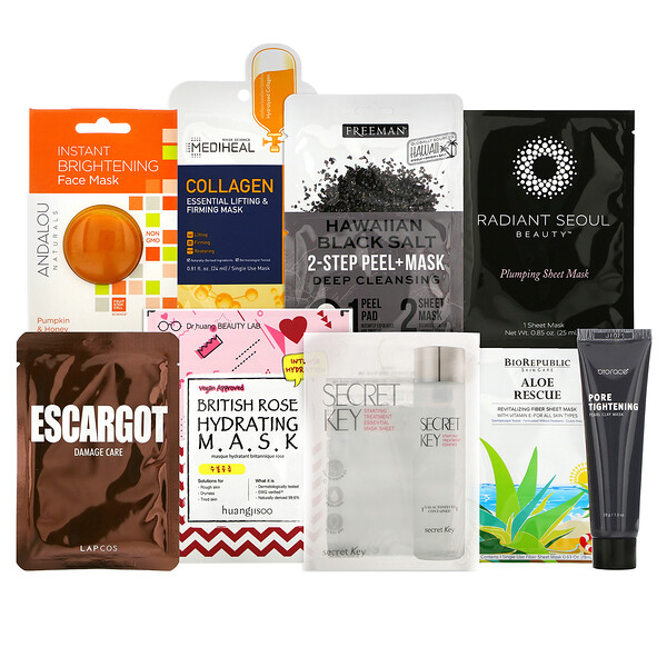 Beauty Mask Favorites Beauty Bag, 9 Piece Kit