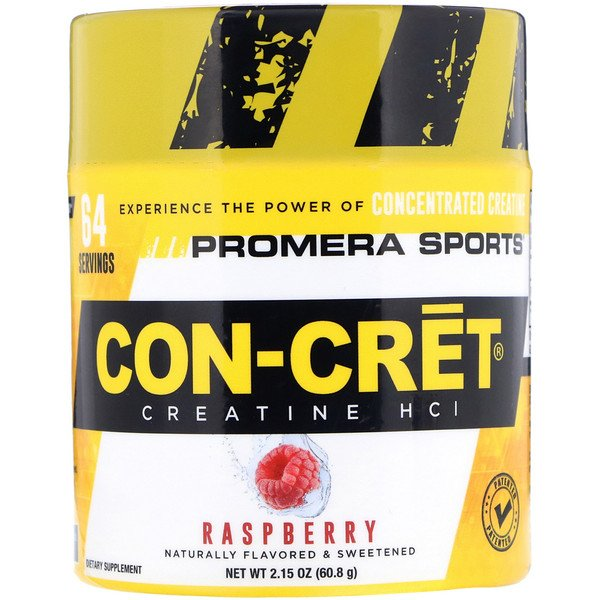Promera Sports, Con-Cret Creatine HCl, Raspberry, 2.15 oz (60.8 g) (Discontinued Item)