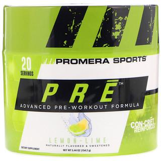 Promera Sports, PRE, усовершенствованная предтренировочная формула, лимон-лайм, 5,44 унц. (154,2 г)