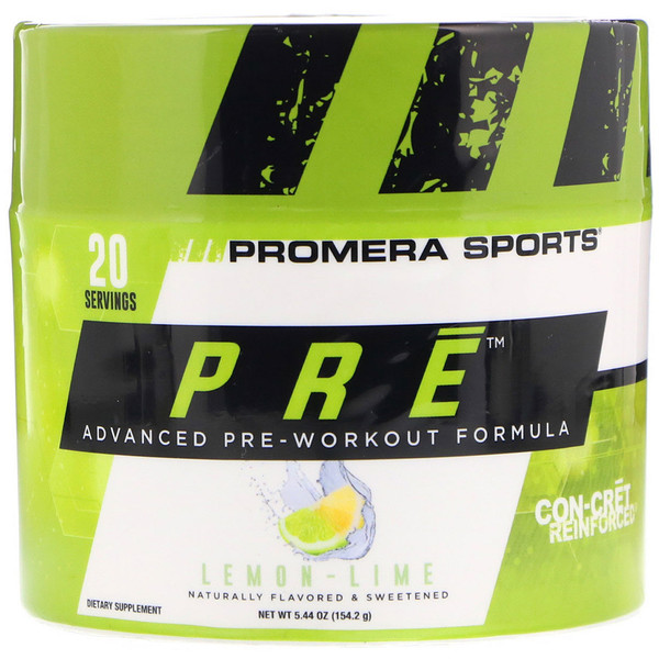 Promera Sports, PRE, Advanced Pre-Workout Formula, Lemon-Lime, 5.44 oz (154.2 g) (Discontinued Item)