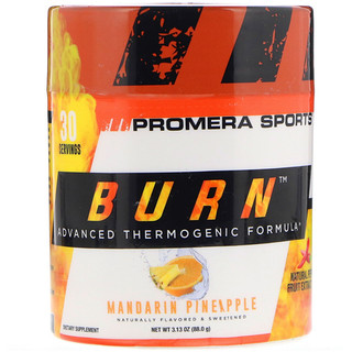Promera Sports, Burn, Advanced Thermogenic Formula, Mandarin Pineapple, 3.13 oz (88.0 g)