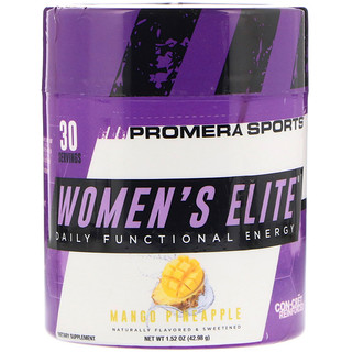 Promera Sports, Women's Elite, Daily Functional Energy, Mango Pineapple, 1.52 oz (42.98 g)