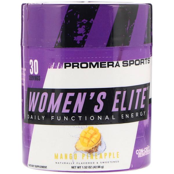 Promera Sports, Women's Elite, אנרגיה פונקציונלית יומית, מנגו אננס, 1.52 oz (42.98 גרם) (Discontinued Item)