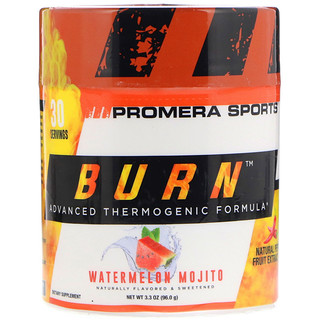 Promera Sports, Burn, Advanced Thermogenic Formula, Watermelon Mojito, 3.3 oz (96.0 g)