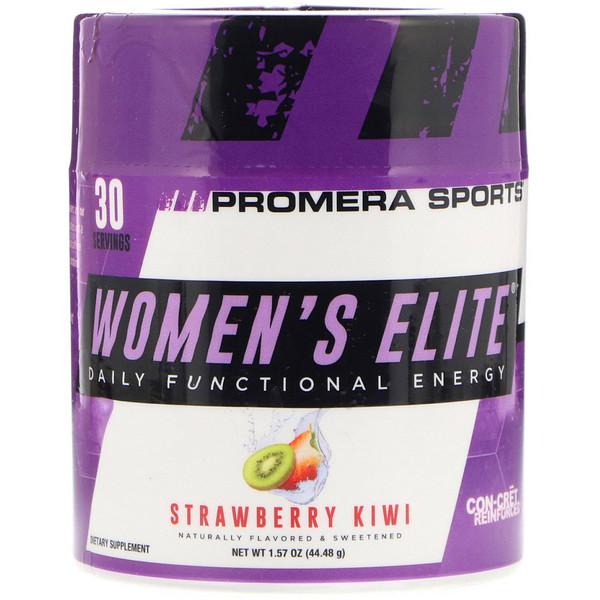 Promera Sports, Women's Elite, Daily Functional Energy, Strawberry Kiwi, 1.57 oz (44.48 g) (Discontinued Item)