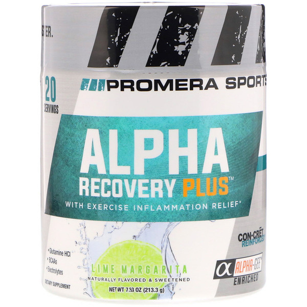 ALPHA RECOVERY PLUS, Lime Margarita, 7.53 oz (213.3 g)