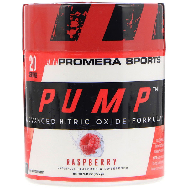 Promera Sports, Pump, Advanced Nitric Oxide Formula, Raspberry, 3.01 oz (85.2 g) (Discontinued Item)