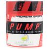 Promera Sports, Pump, Усовершенствованная формула с окисью азота, лимон-лайм, 3,01 унц. (85,2 г)