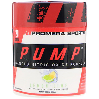Promera Sports, Pump, Advanced Nitric Oxide Formula, Lemon-Lime, 3.01 oz (85.2 g)