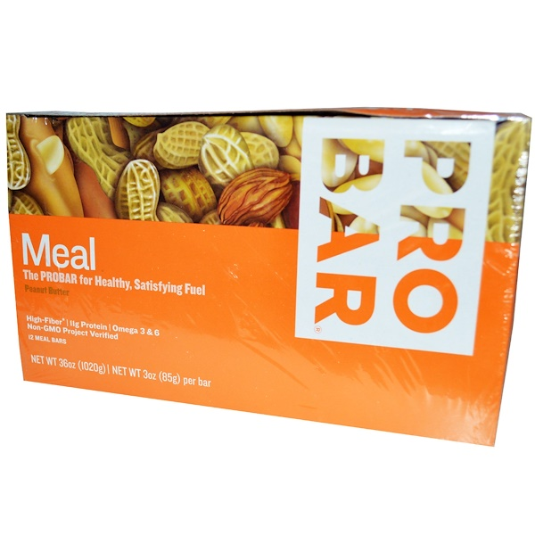 ProBar, Meal Bar, Peanut Butter, 12 Bars, 3 oz (85 g) Each (Discontinued Item)