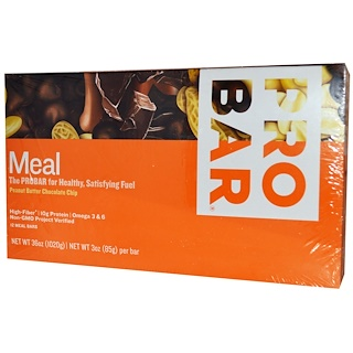 ProBar, Meal Bar, Peanut Butter Chocolate Chip, 12 Bars, 3 oz (85 g) Per Bar