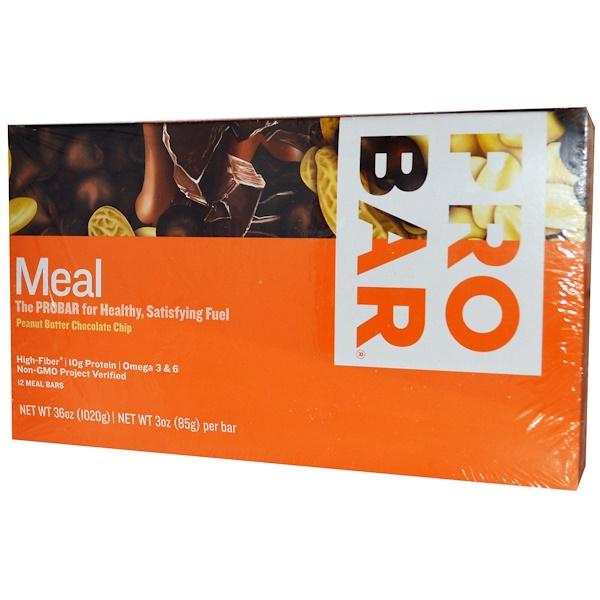 ProBar, 全食品餐營養棒,花生黃油口味,巧克力碎,12條,3盎司85克