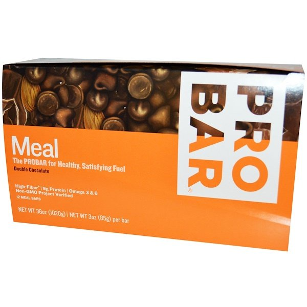 ProBar, Meal, The Real Whole Food Bar, Double Chocolate, 12 Bars, 3 oz (85 g) Each (Discontinued Item)