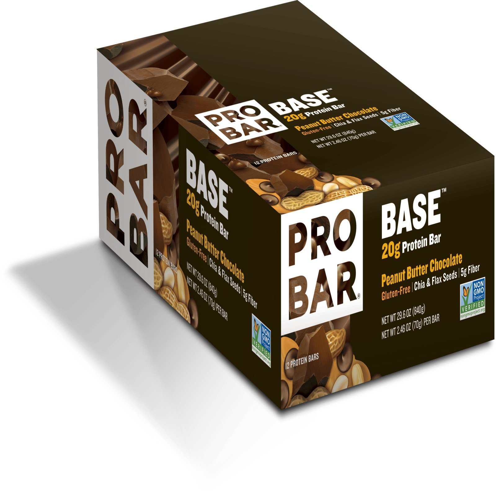 ProBar, Core, The 20 g Protein Bar, Chocolate Peanut Butter, 12 Bars, 2.46 oz. EA