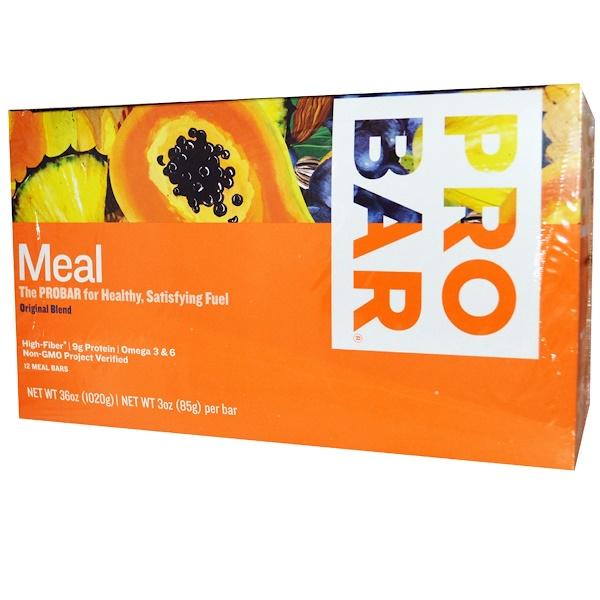 ProBar, Meal Bar, Original Blend, 12 Bars, 3 oz (85 g) Per Bar (Discontinued Item)