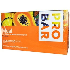 Пробар, Meal Bar, Original Blend, 12 Bars, 3 oz (85 g) Per Bar отзывы