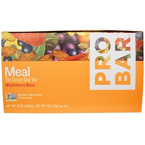 Пробар, Meal Bar, Wholeberry Blast, 12 Bars, 3 oz (85 g) Per Bar отзывы покупателей
