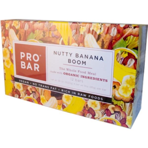 ProBar, Nutty Banana Boom, 12 Bars, 3 oz (85 g) Each (Discontinued Item)