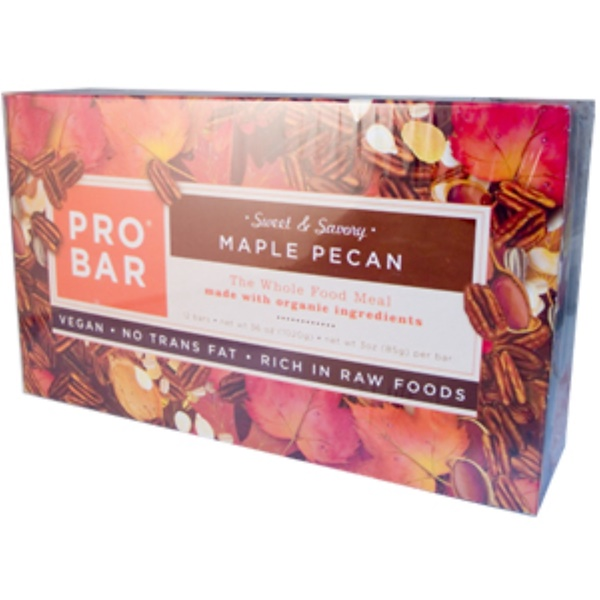 ProBar, Sweet & Savory Maple Pecan, 12 Bars, 3 oz (85 g) Per Bar (Discontinued Item)