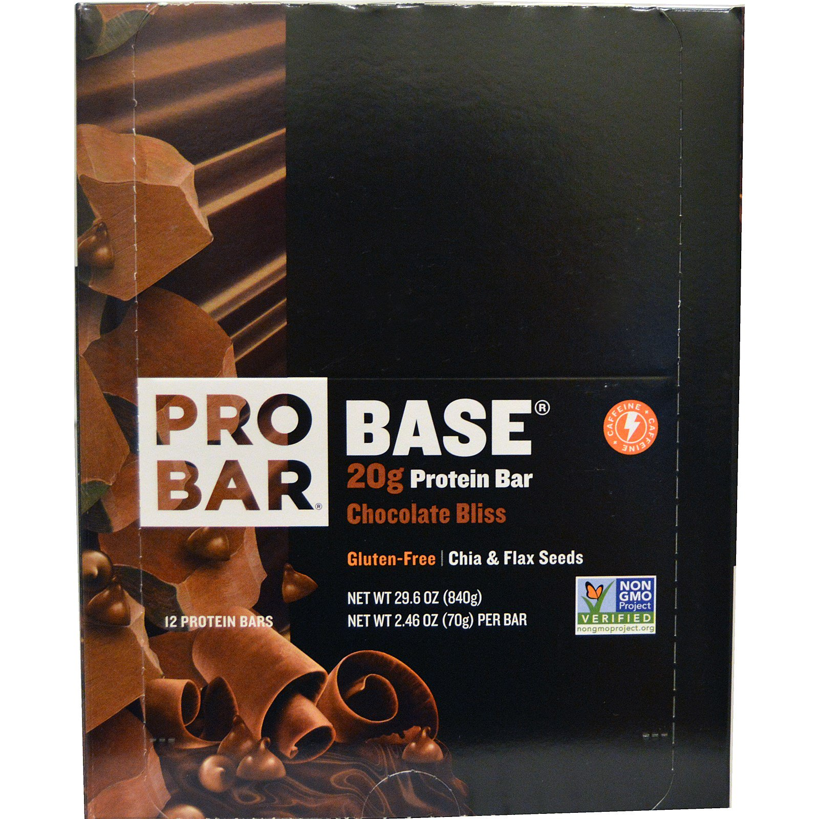 ProBar, Base, 20 g Protein Bar, Chocolate Bliss, 12 - 2.46 oz (70 g) Each