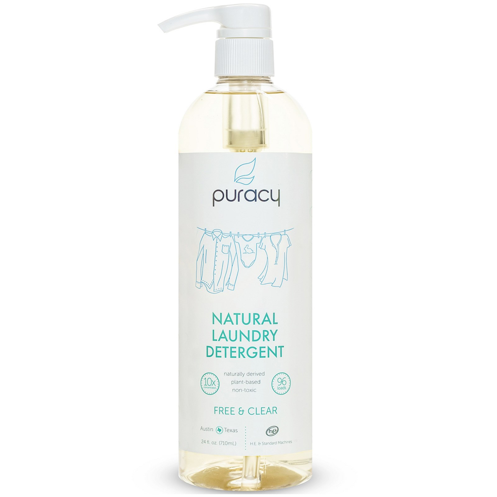 Pure Baby Laundry Liquid Refill Buy 2 Get 3 700 Ml Puracy Natural Detergent Free Clear 24 Fl Oz 710