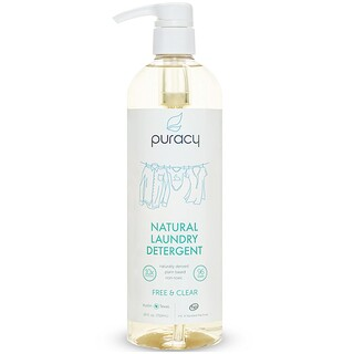 Puracy, Natural Laundry Detergent, Free & Clear, 24 fl oz (710 ml)