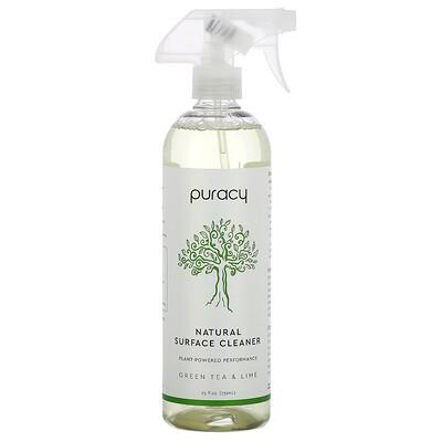 Puracy Natural Surface Cleaner, Green Tea & Lime, 25 fl oz (739 ml)