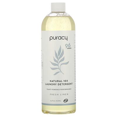 Купить Puracy Natural 10X Laundry Detergent, Free Linen, 24 fl oz (710 ml)